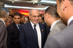 Tunesische Eerste minister die ICT4ALL opent Stock Afbeeldingen