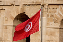 Tunesische Flagge Lizenzfreies Stockbild