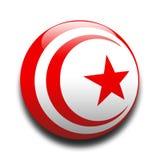Tunesische Markierungsfahne stock abbildung