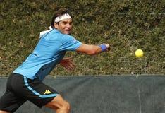 Tunesische tennisspeler Malek Jaziri Stock Afbeeldingen