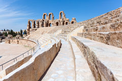 Tunesischer Amphitheatre in EL Djem, Tunesien Lizenzfreie Stockfotos