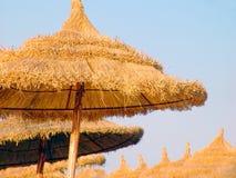 Tunesischer Sonnenschirm. Stockfotografie