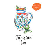 Tunesischer Tee vektor abbildung