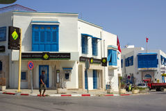 TUNEZJA AFRYKA, Sierpień, - 02, 2012: Ulicy w Sidi Bou Powiedzieli wewnątrz Fotografia Royalty Free