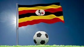 Tunezja futbolu i trzepotać chorągwiane rolki