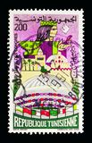 Tunezja: Ziemia konwencje, Pamiątkowy seria około 1982, zdjęcie stock