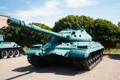 Tung behållare T-10, IS-8 Arkivfoto