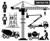Tung bransch Clipart för konstruktion stock illustrationer