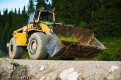 Tung bulldozer Arkivfoto