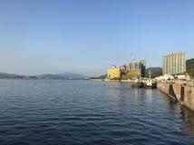Tung chung new development area. The coastal area of Tung Chung, Lantau Royalty Free Stock Image