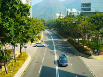 Tung Chung road. Filmed in Tung Chung road Royalty Free Stock Photo