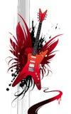 tung gitarr vektor illustrationer