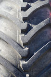 Tung gummihjuldäckmönster Arkivfoto