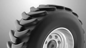 Tung hjulögla för traktor vektor illustrationer