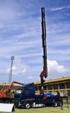 tung hydraulisk lyftarm för kranarbetsuppgift Royaltyfria Foton