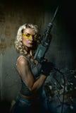 tung kvinna för drill Royaltyfri Bild