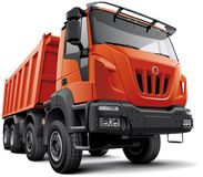 tung lastbil för konstruktion Royaltyfria Bilder