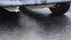 Tung luftförorening stock video