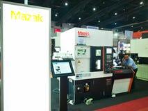 Tung maskin i Metalex 2014, stoltheten av ASEAN, Thailand Royaltyfri Bild