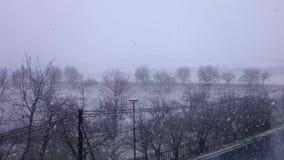 Tung snöstorm stock video