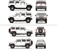 tung suvlastbil för stor arbetsuppgift stock illustrationer