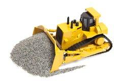 tung toy för bulldozer Arkivbild