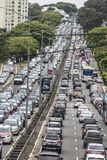 tung trafik royaltyfria foton