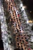 tung trafik Fotografering för Bildbyråer