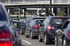 Tung trafik i London Arkivfoton