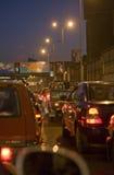 Tung trafik på Kairo Arkivfoto