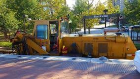 Tung utrustning som används för svallvåg 7 för WMATA Safetrack på den Rockville stationen Fotografering för Bildbyråer