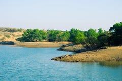 Tungarli jezioro, Lonavala, maharashtra, India zdjęcia royalty free