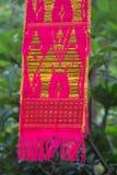 Tungboom-lannavlag royalty-vrije stock afbeeldingen