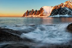 Tungeneset Senja Νορβηγία Στοκ φωτογραφίες με δικαίωμα ελεύθερης χρήσης