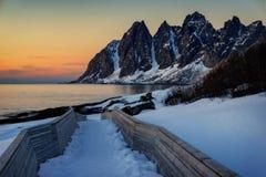Tungeneset Senja Νορβηγία Στοκ Εικόνες