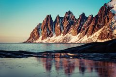Tungeneset Senja Noruega Imagem de Stock Royalty Free