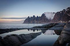 Tungeneset, Senja, Północny Norwegia zdjęcie royalty free