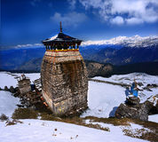 Tungnath is the Lord Shiva temple Royalty Free Stock Photos