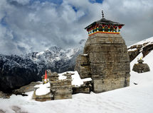Tungnath Shiva temple. Tungnath is the temple of Lord Shiva, is located on a mountain ridge Tungnath in the state of Uttarakhand, India. The age of this temple Royalty Free Stock Images