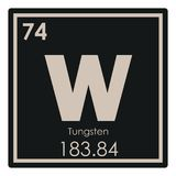 Tungsten chemical element. Periodic table science symbol Royalty Free Stock Photography