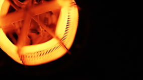 Tungsten filament of electric heater stock video footage
