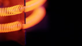 Tungsten filament of electric heater stock video