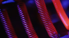 Tungsten filament of electric heater stock footage