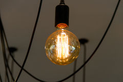 Tungsten filament lamps Royalty Free Stock Photos