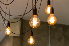 Tungsten filament lamps Royalty Free Stock Photo