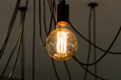 Tungsten filament lamps Royalty Free Stock Image