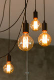 Tungsten filament lamps Royalty Free Stock Photography
