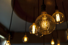 Tungsten lamps , old fashion chandelier Stock Image