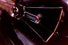 Tungsten, Light bulb. Closeup of filament of a light bulb stock photo