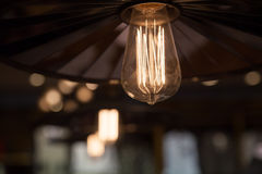 Tungsten light bulb Royalty Free Stock Photos